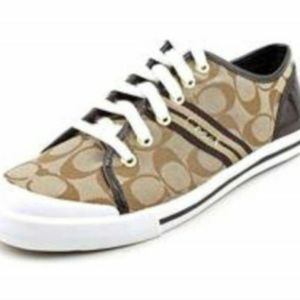 Coach Brown Signature Sneakers, Ladies Size 9.5 for Sale in Duluth, GA