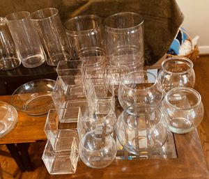 Glass vases - bundle or pick just one for Sale in Greensboro, NC