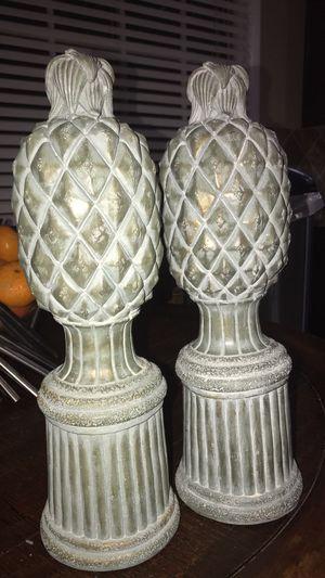 2 decorative pineapples for Sale in Marietta, GA