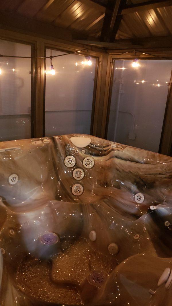 Bran new hot tub with gazebo unbeatable price