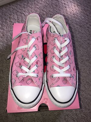 New Girls hello kitty converse for Sale in San Diego, CA