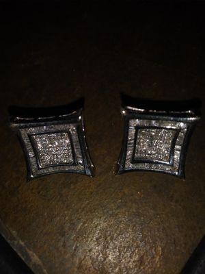 5 karat earrings 14k white gold 2.5 each karats each... for Sale in Denver, CO