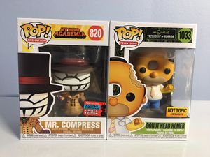 Mr. Compress Funko Pop NYCC Exclusive & Donut Head Homer Simpson's for Sale in Los Angeles, CA