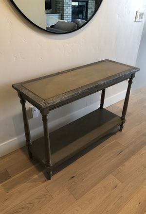Vintage weathered Gray entry console / Sofa Table for Sale in Eagle, ID
