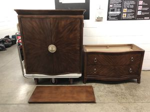 Nice King size 2 piece Armoire $195 for Sale in Gaithersburg, MD
