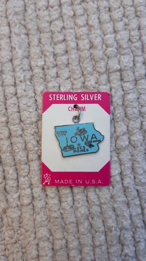 IOWA Vintage Sterling Silver Charm for Sale in Chandler, AZ