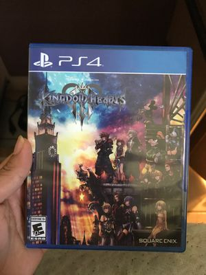 Kingdom Hearts 3, For PS4 for Sale in Cypress, CA