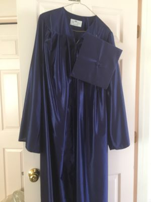 Blue graduation gown & cap for Sale in Manassas, VA