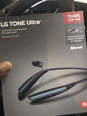 LG tone ultra Bluetooth headset retractable earbuds brand new for Sale in Naperville, IL