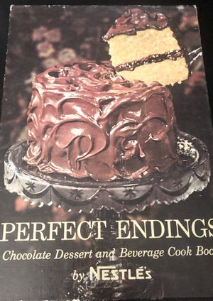 """Nestle's """"Perfect Endings""""chocolate cake and beverage cookbook from 1962. for Sale in Bridgeport, CT"""