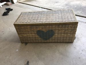 Large Antique Wicker Basket for Sale in San Dimas, CA
