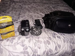 Sony Steady Shooting camera w/ bag and cassettes for Sale in Manassas, VA