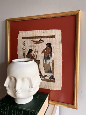 Egyptian wall art on papyrus, red painting for Sale in Washington, DC