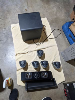 Klipsch mirage 5.1 speakers with center channel for Sale in Los Angeles, CA