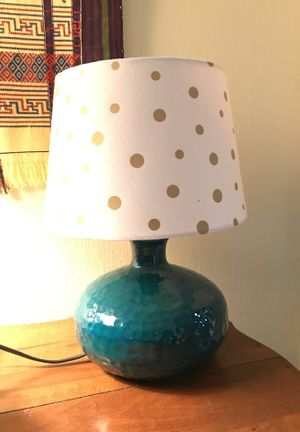Turquoise table lamp for Sale in Portland, OR