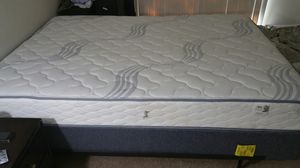queen bed with new mattress, box spring and iron frame. Altogether for Sale in Rockville, MD