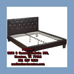 Brown bed frame for Sale in Houston, TX