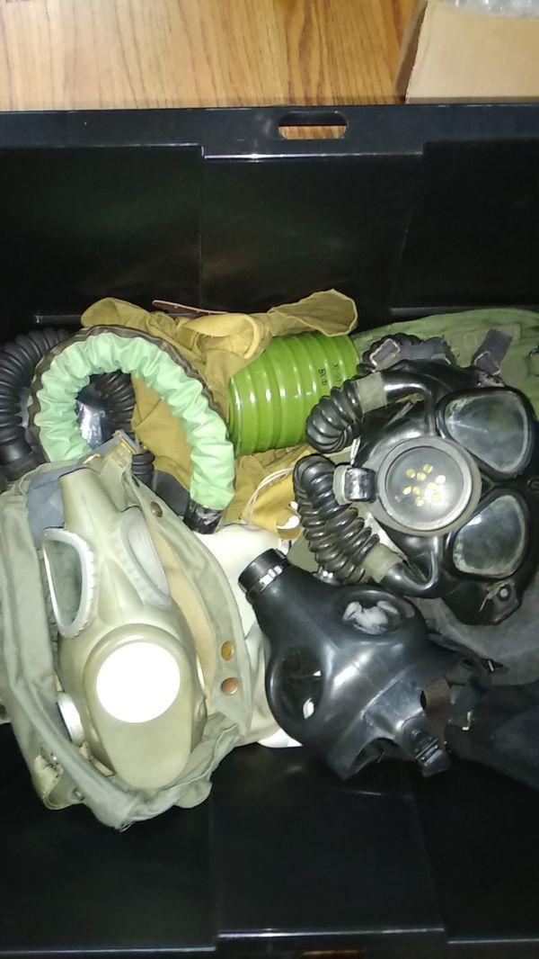 Large lot of gasmasks