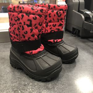 Baby Toddler Girls Snow Boots Size 5 LIKE NEW for Sale in Garden Grove, CA