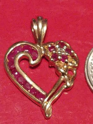 14K gold & ruby charm for Sale in Tampa, FL