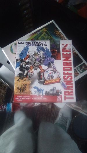 Transformers, construct bots; age of extinction lockdown and hangnail dino. (dinobot warriors) brand new in box never opened for Sale in Stockton, CA