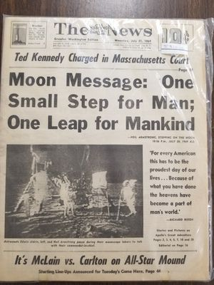 Moon landing newspaper for Sale in Spout Spring, VA