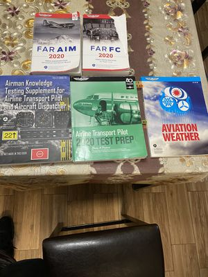 Asa Prívate pilot and Aircraft Dispatcher books and circular flight computer for Sale in Hialeah, FL