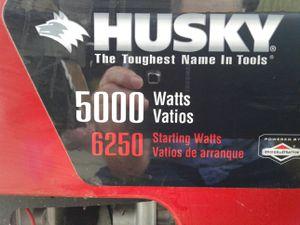 Husky Gas Generator - 6250 Starting Watts / 5000 Running Watts for Sale in Hookstown, PA