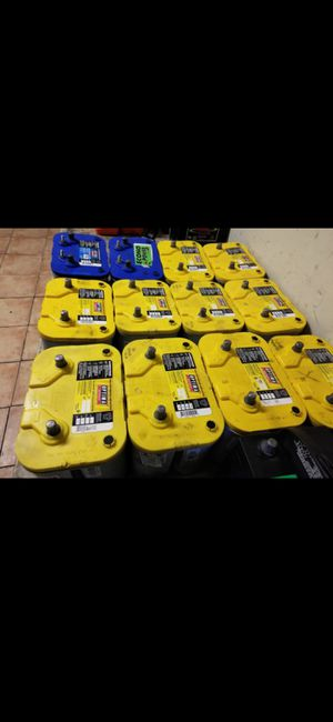 BATERÍAS OPTIMA YELLOW TOP DEEP-CYCLE GEL BATTERIES AVAILABLE CORE EXCHANGE IS NEEDED SEMI-NEW for Sale in Orange, CA