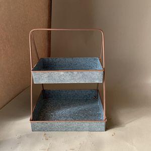 Decorative Organization Tin Carrier, Plant Stand, Kichen Organization, Multi-use Stacked Trays for Sale in Phoenix, AZ