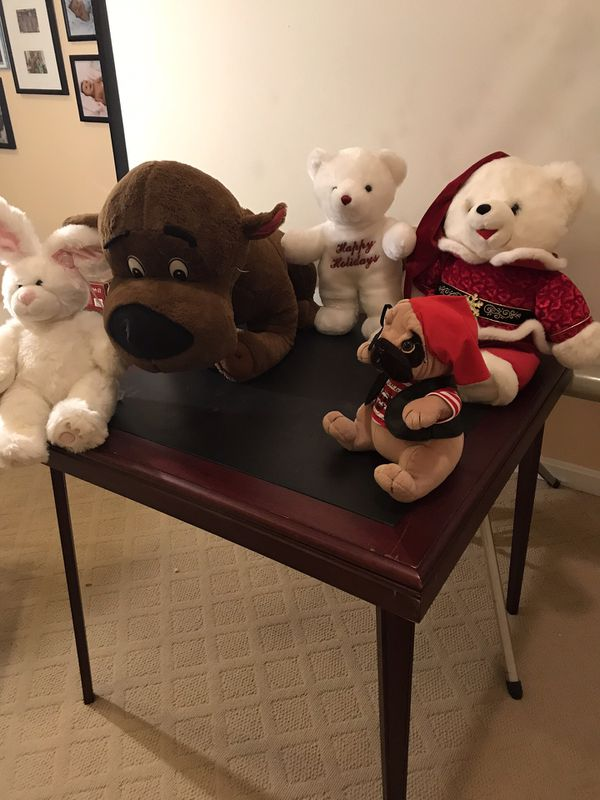 stuffed animals all for $15, one is a Christmas bear