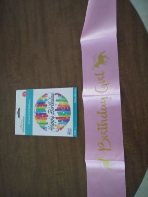 Birthday sash and balloon for Sale in Clayton, NC