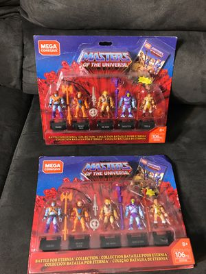 Master of the universe mega construx new $5 each for Sale in Bellflower, CA