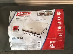 Coleman Queen Airbed Cot/raised air mattress for Sale in Ellicott City, MD