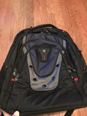 "SwissGear Wenger Ibex 17"" Notebook Hiking Back Padding College Backpack Black for Sale in Duluth, GA"