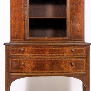 Antique Victorian Tiger Maple China Cabinet for Sale in Manhasset, NY