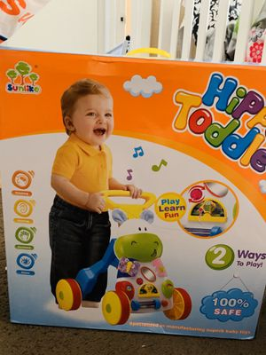 SUNLIKE HIPPO TODDLE , PUSH WALKER 12 Mo. + for Sale in Riverside, CA