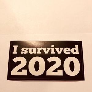 I Survived 2020 Sticker for Sale in Bloomfield Hills, MI