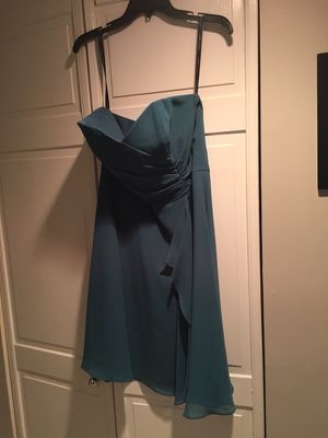 Alfred Angelo teal bridesmaid dress, size 12 for Sale in Alexandria, VA