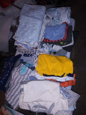 63 pieces. Bag of bundle baby boy clothing newborn & 0-3 for Sale in Bay Point, CA