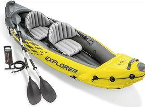 Intex Explorer K2 Kayak, 2-Person Inflatable Kayak Set for Sale in Bethesda, MD