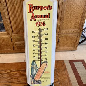 Vintage Burpee's Annual 1926 Thermometer for Sale in Riverside, CA