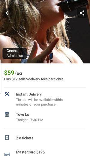 Tove Lo for Sale in Stickney, IL