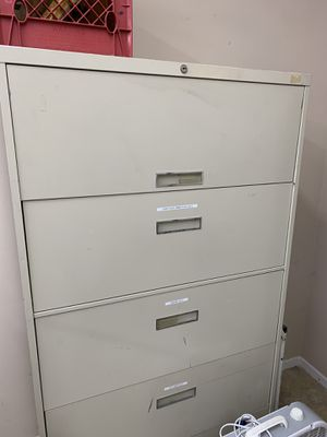 File cabinets metal pick up Saturday office chairs too for Sale in Long Beach, CA