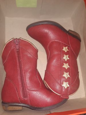 Red Gold Star toddler girl boots for Sale in Burbank, IL