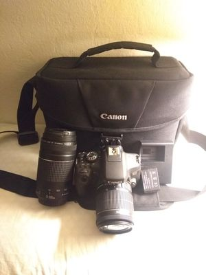 Canon T6i deluxe 3 lenses bundle package premium kit Like new Eos Rebel for Sale in San Jose, CA