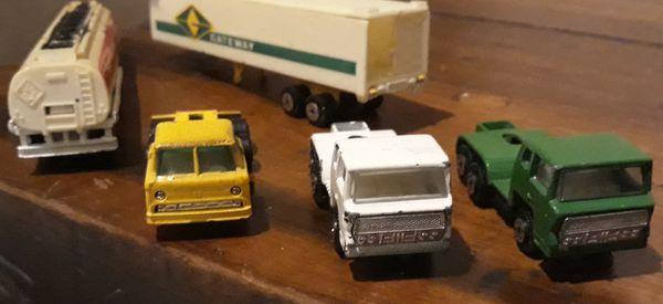 Vintage Yatming Cab Truck/Hauler/Trailer Lot