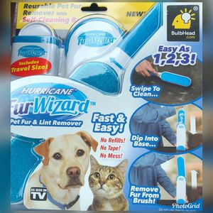 NEW As Seen On TV Hurricane Fur Wizard Hair Remove Clothing Lint Fur Remover Dog Cat Pet Hair for Sale in La Mirada, CA