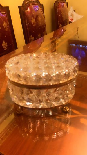 Vintage crystal boxes each $150 very gorgeous pieces for Sale in Pico Rivera, CA