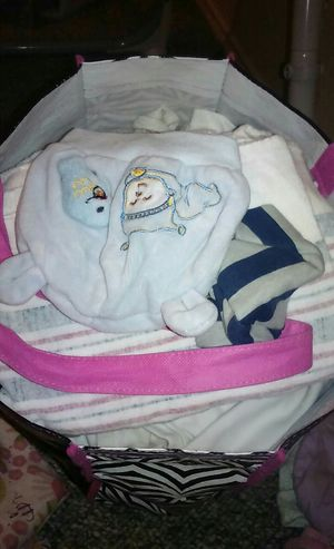 Newborn baby boy clothes 1 big bag for Sale in Pflugerville, TX